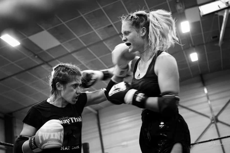 Elève du club Nat Tam qui pratique la boxe en compétition